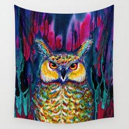 HORNED OWL Wall Tapestry