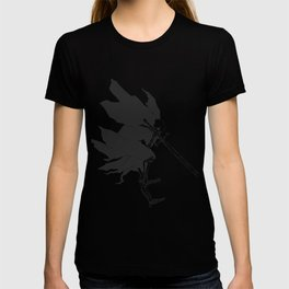 Grim reaper attack - medieval ghost - gothic skull - night demon - black and white T-shirt