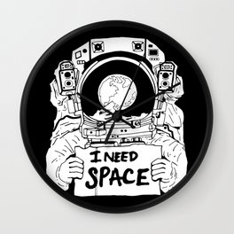 Major Spaceman Wall Clock
