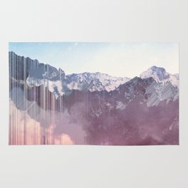 Glitched Mountains Rug