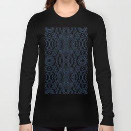 Art Deco Navy Long Sleeve T-shirt