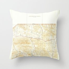 Seminole, CA from 1932 Vintage Map - High Quality Throw Pillow