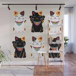 Maneki Neko - Lucky Cats Wall Mural