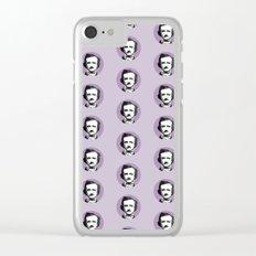 Edgar Allan Poe-ka Dots Clear iPhone Case