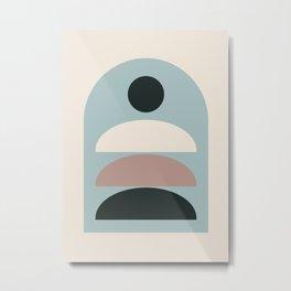 Minimal Geometric 68 Metal Print