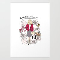 leslie knope Art Prints featuring Queen Leslie Knope by Tyler Feder
