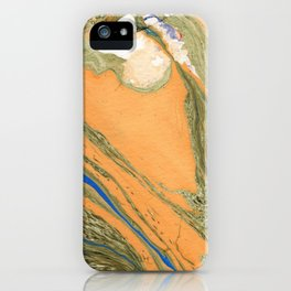 Greenery Marble Painting iPhone Case