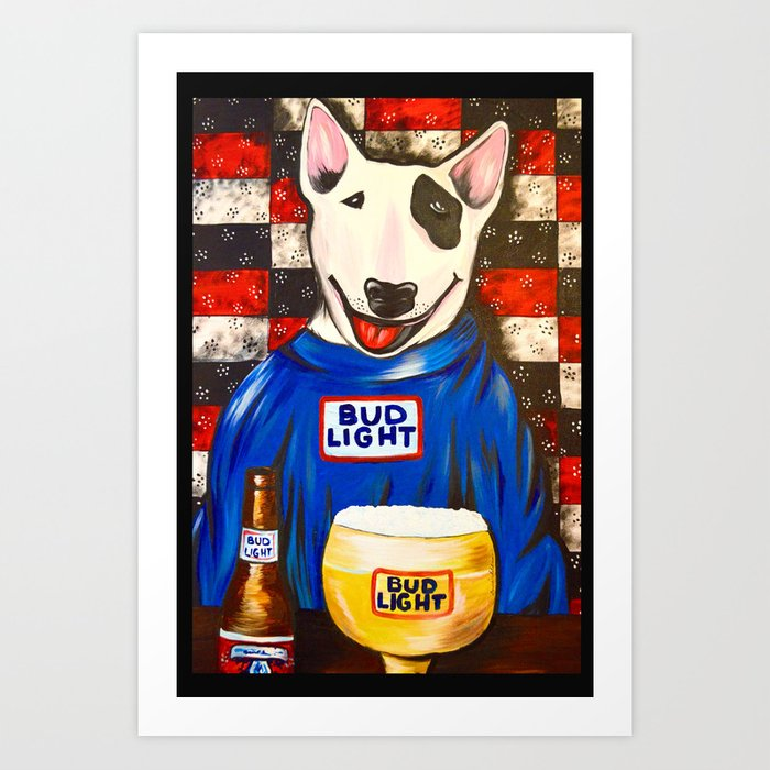 spuds mackenzie art print by portraitsontheperiphery society6