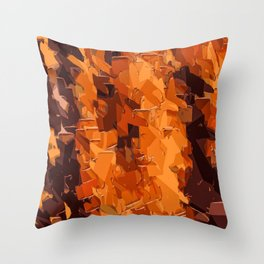 brown and dark brown painting abstract background Throw Pillow