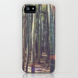 Kyoto Bamboo forest in Japan iPhone Case