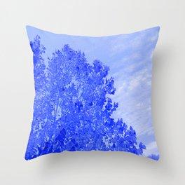 Blue Day Throw Pillow