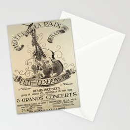 Advertisement hotel de la paix lausanne Stationery Cards