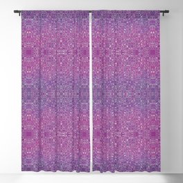 Intricate Linework Abstract Watercolor Blackout Curtain