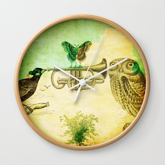 Music of birds Wall Clock