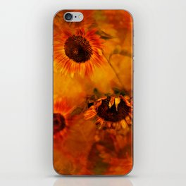 Autumn Playful Sunflowers iPhone Skin