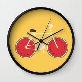watermelon bike Wall Clock