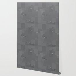 Glacier Gray Square Pixel Color Accent Wallpaper