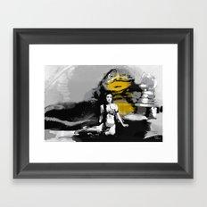Leia and Jabba Framed Art Print