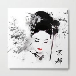 Kyoto Geisha Metal Print