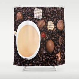 Coffee And Chocolate Delight Shower Curtain