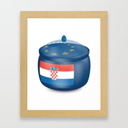 Flag of Croatia. Saucepan with a translucent cover. The symbol of the European Union. Framed Art Print