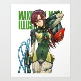 Mari Makinami Illustrious Art Print