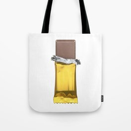 Chocolate candy bar in gold wrapper Tote Bag