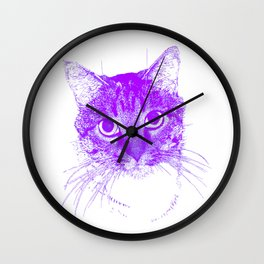 Jazz, drawing, purple Wall Clock
