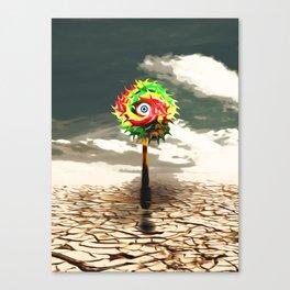 DESERT landscape with lolli pop candy Canvas Print