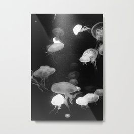 Jellyfish Intense Metal Print