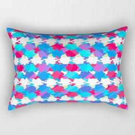 Octagons 2 - Blue Rectangular Pillow