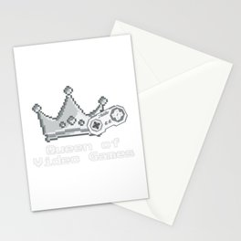 Queen Of Videogames 1 Stationery Cards