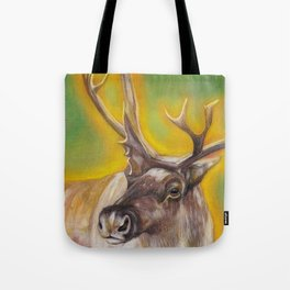 Glowing Caribou Tote Bag