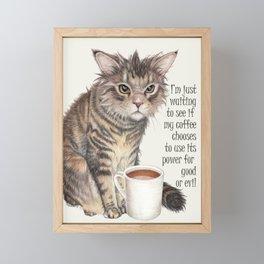 Coffee Cat Framed Mini Art Print
