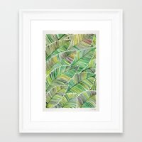 tropical Framed Art Prints featuring Tropical Green by Cat Coquillette