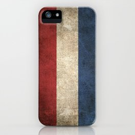 Old and Worn Distressed Vintage Flag of The Netherlands iPhone Case
