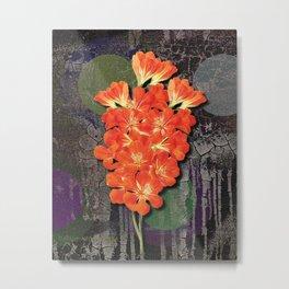 Flower meets Grunge meets Popart Metal Print