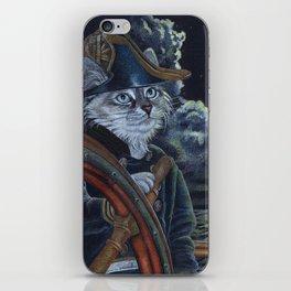Sea Captain Cat iPhone Skin