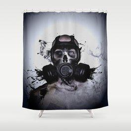 Zombie Warrior Shower Curtain