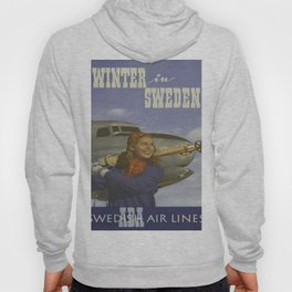 Vintage poster - Winter in Sweden Hoody