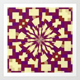 Raster kaleidoscope n° 5 Art Print