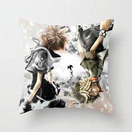 Sora x Roxas Throw Pillow