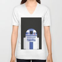 r2d2 V-neck T-shirts featuring R2D2 by FioMedina