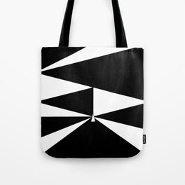 Triangles in Black and White Tote Bag