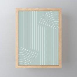 Minimal Line Curvature VII Framed Mini Art Print