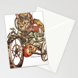 Berserk Steampunk Motorcycle Cat New Color Stationery Cards