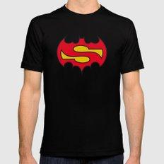 Superbatman comic Mens Fitted Tee Black MEDIUM