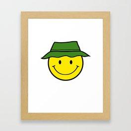 Happy Camper - Cute Smiley Framed Art Print