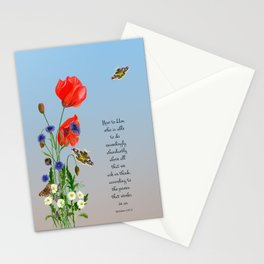Now to Him Who Is Able to do Exceedingly Abundantly Ephesians 3  Nature Watercolour Stationery Cards