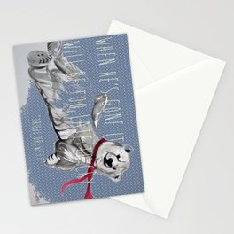 When He's Gone It Will Be To Late To Cry Stationery Cards